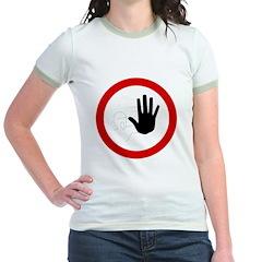 Restricted Access Sign Jr. Ringer T-Shirt