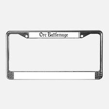 Orc Battlemage License Plate Frame