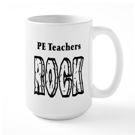 PE Teachers Rock Large Mug