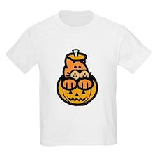 Kitty in a Pumpkin T-Shirt