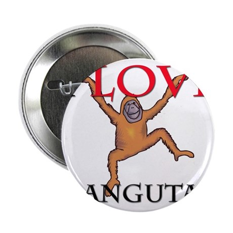 "I Love Orangutans 2.25"" Button (10 pack)"