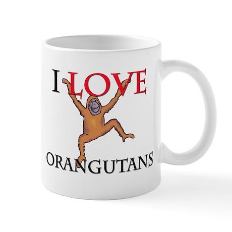 I Love Orangutans Mug