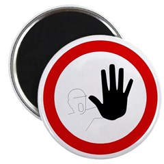 Restricted Access Sign - Magnet