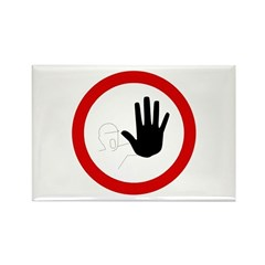 Restricted Access Sign - Rectangle Magnet (100 pac