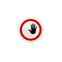 Restricted Access Sign - Mini Button (100 pack)