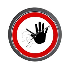 Restricted Access Sign - Wall Clock