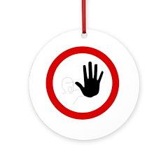 Restricted Access Sign - Keepsake (Round)