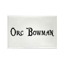 Orc Bowman Rectangle Magnet