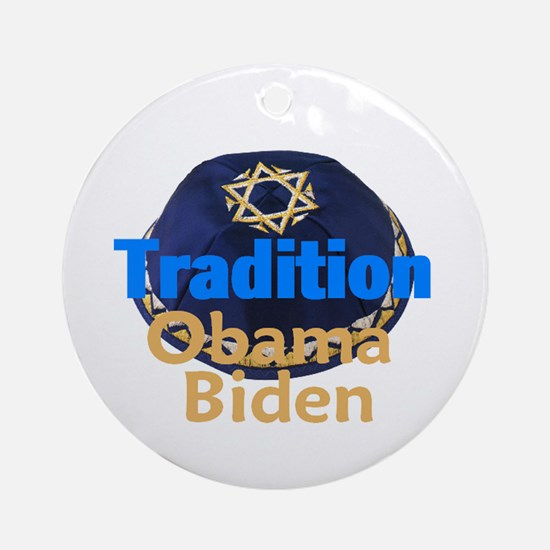 Obama Biden Yarmulke Ornament (Round)