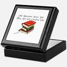 """""""Old Librarians Never Die"""" Keepsake Box"""