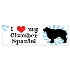 I Love My Clumber Spaniel Bumper Bumper Sticker
