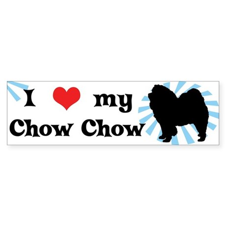 I Love My Chow Chow Bumper Sticker