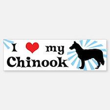 I Love My Chinook Bumper Bumper Bumper Sticker