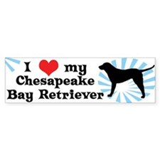 I Love My Chesapeake Bay Retriever Bumper Car Sticker