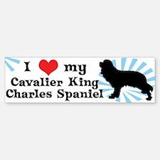 I Love My Cavalier King Charles Bumper Bumper Bumper Sticker