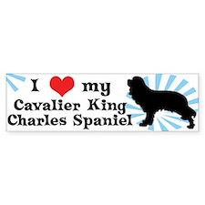 I Love My Cavalier King Charles Bumper Bumper Sticker