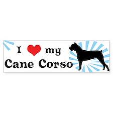 I Love My Cane Corso Bumper Bumper Sticker