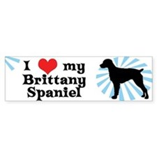 I Love My Brittany Spaniel Bumper Bumper Sticker