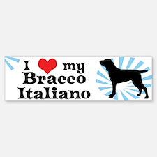 I Love My Bracco Italiano Bumper Bumper Bumper Sticker