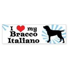 I Love My Bracco Italiano Bumper Bumper Sticker