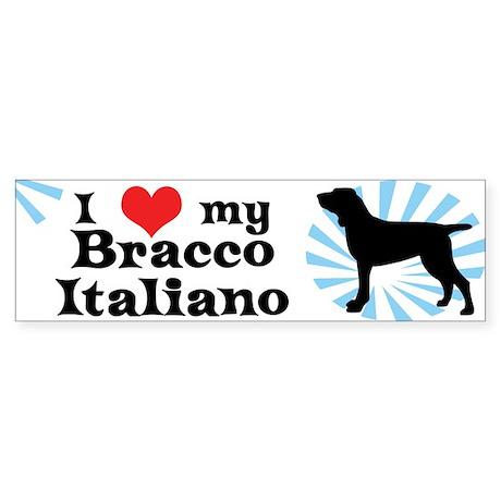 I Love My Bracco Italiano Bumper Sticker