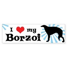 I Love My Borzoi Bumper Bumper Sticker