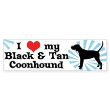 I Love My Black & Tan Coonhound Bumper Bumper Sticker
