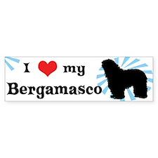 I Love My Bergamasco Bumper Bumper Sticker
