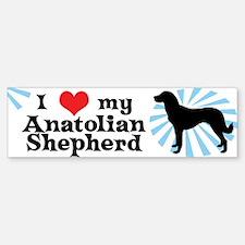 I Love My Anatolian Shepherd Bumper Bumper Bumper Sticker
