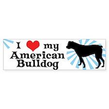 I Love My American Bulldog Bumper Bumper Sticker