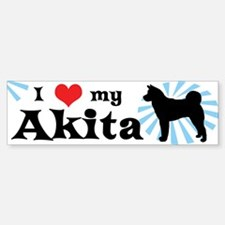 I Love My Akita Bumper Bumper Bumper Sticker