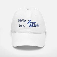 Bite Me, I'm A Vet Tech. Baseball Baseball Cap
