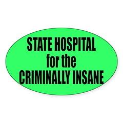 Psycho Lockup Oval Sticker (10 pk)