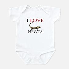 I Love Newts Infant Bodysuit