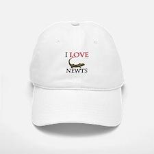 I Love Newts Baseball Baseball Cap