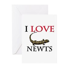 I Love Newts Greeting Cards (Pk of 10)