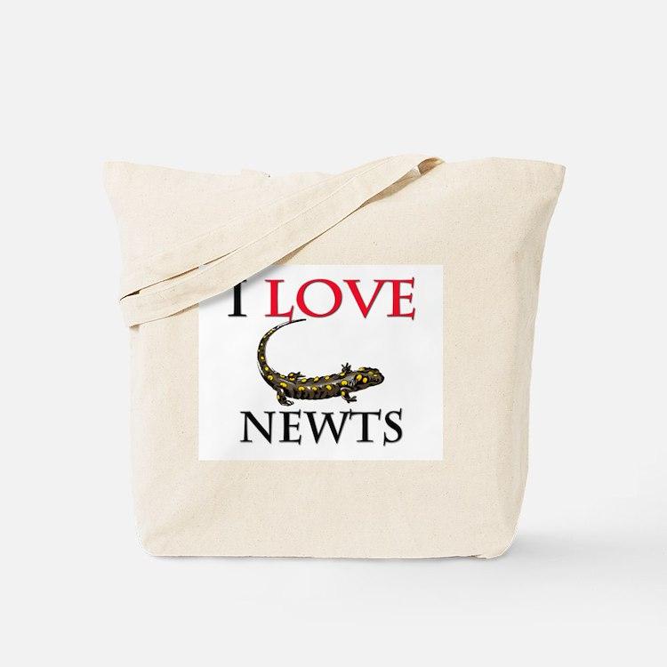I Love Newts Tote Bag