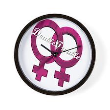 Cute Glbt bi funny Wall Clock
