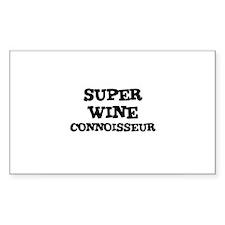 SUPER WINE CONNOISSEUR Rectangle Decal
