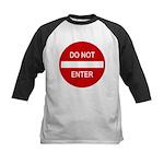 Do Not Enter Sign Kids Baseball Jersey