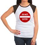 Do Not Enter Sign Women's Cap Sleeve T-Shirt