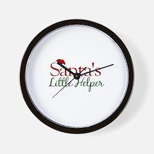 Santa's Little Helper Wall Clock