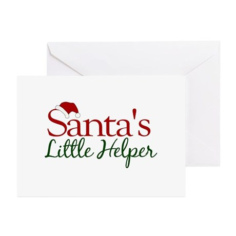 Santa's Little Helper Greeting Cards (Pk of 20)