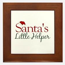 Santa's Little Helper Framed Tile