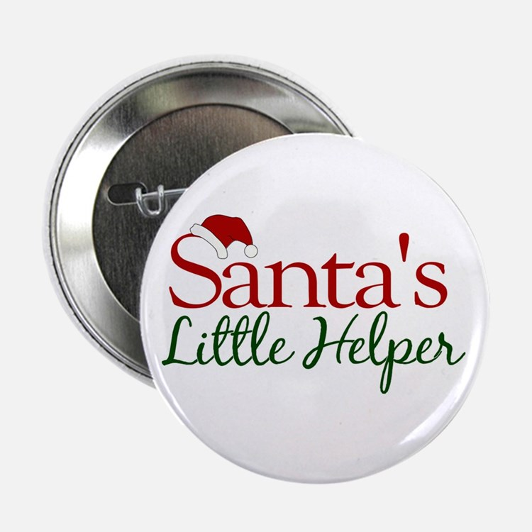 "Santa's Little Helper 2.25"" Button"
