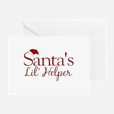 Santa's Lil Helper Greeting Card