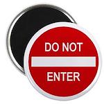 Do Not Enter Sign Magnet