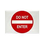 Do Not Enter Sign Rectangle Magnet (10 pack)