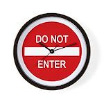 Do Not Enter Sign Wall Clock