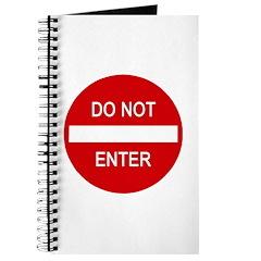 Do Not Enter Sign Journal